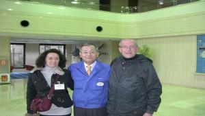 FIORELLA e FRANCO TESTI con il Sig. SOICHI TAKAHASHI (GROUP LEADER SHIMANO)