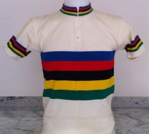 Maglia ciclismo lana anni 80 ( Campione del mondo)