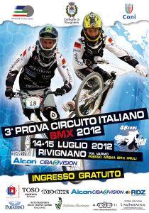 Stagione 2012: 3° prova Circuito Italiano BMX - Rivignano