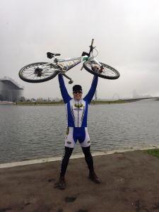 Claudio Ramponi con la maglia Testi cicli in quel di Mosca.