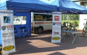 Esempio di strutture alle gare ciclistiche del GS Testi Cicli Perugia
