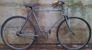"""Bici uomo del 1929 """"i primi tentativi per i freni a filo."""