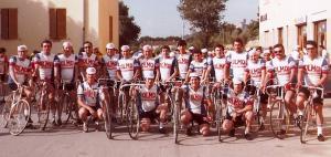 La squadra G.S. Olmo nel 1973