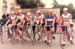 Alcuni atleti della squadra G.S. OLMO nel 1973